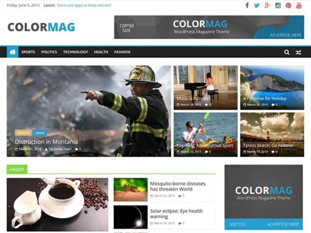 قالب ColorMag