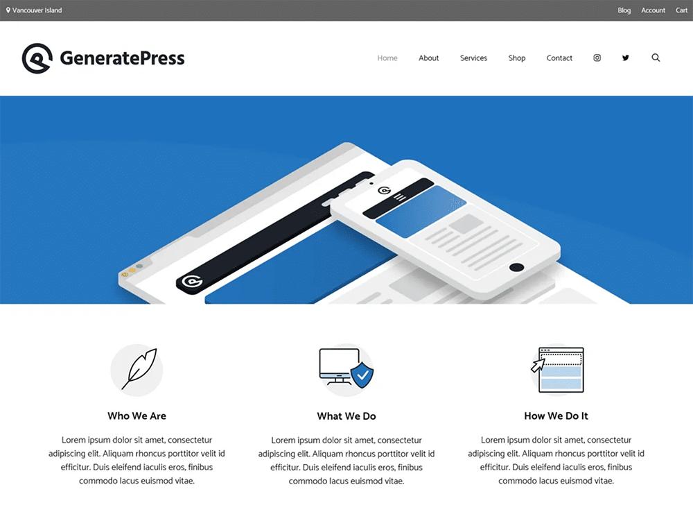 قالب GeneratePress