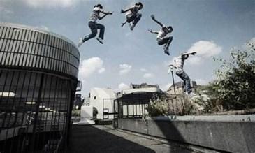رياضة الباركور في غزة