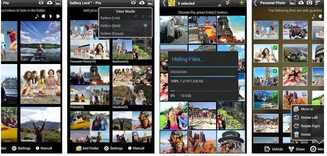 إخفاء الصور والفيديو تطبيق القفل