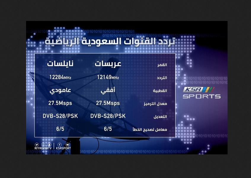 تردد قناة السعودية الرياضية Saudi HD sport لمتابعة المباريات السعودية